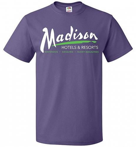 Billy Madison Hotels & Resorts Adult Unisex T-Shirt Pop Culture Graphic Tee (M/Purple