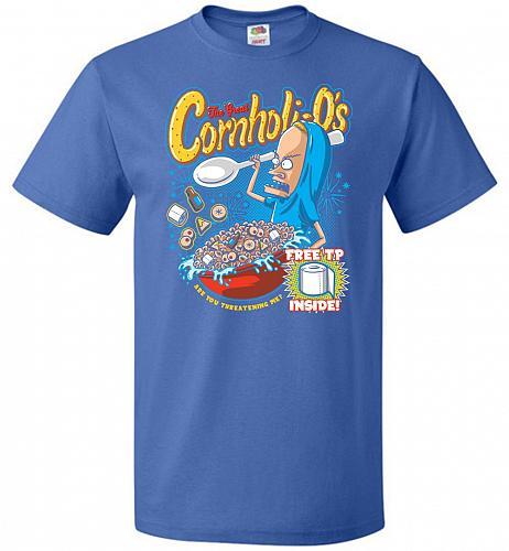 Cornholios Unisex T-Shirt Pop Culture Graphic Tee (3XL/Royal) Humor Funny Nerdy Geeky
