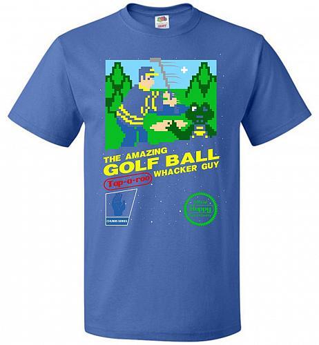 Happy Golf Nintendo Parody Cover Adult Unisex T-Shirt Pop Culture Graphic Tee (XL/Roy