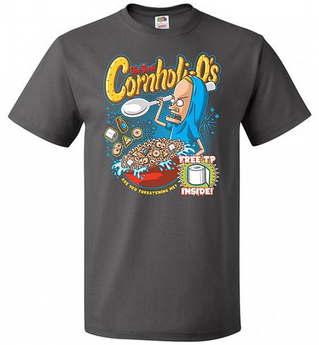 Cornholios Unisex T-Shirt Pop Culture Graphic Tee (XL/Charcoal Grey) Humor Funny Nerd