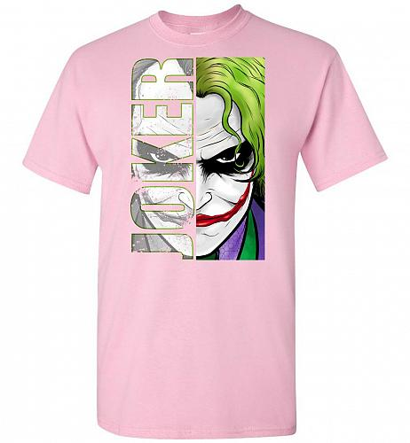 Joker Unisex T-Shirt Pop Culture Graphic Tee (5XL/Light Pink) Humor Funny Nerdy Geeky