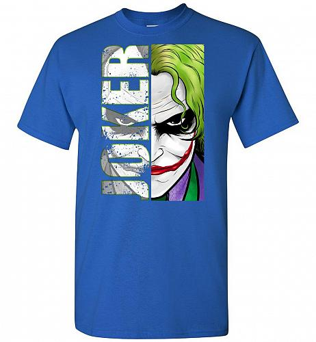 Joker Unisex T-Shirt Pop Culture Graphic Tee (M/Royal) Humor Funny Nerdy Geeky Shirt