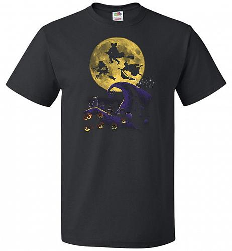 Hocus Pocus Halloween Unisex T-Shirt Pop Culture Graphic Tee (4XL/Black) Humor Funny