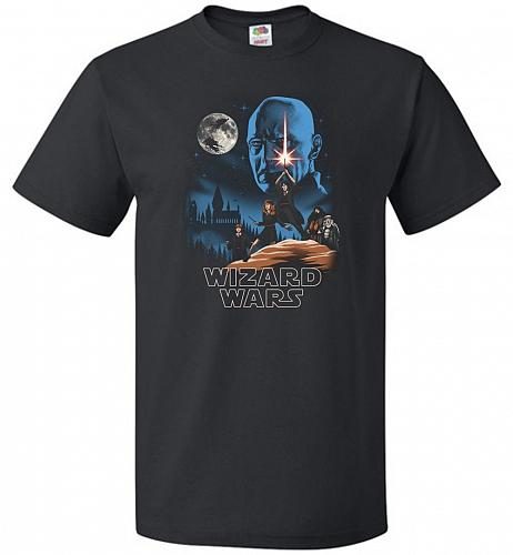 Wizard Wars Unisex T-Shirt Pop Culture Graphic Tee (6XL/Black) Humor Funny Nerdy Geek