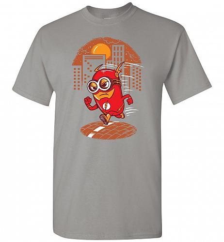 Flash Minion Unisex T-Shirt Pop Culture Graphic Tee (L/Gravel) Humor Funny Nerdy Geek