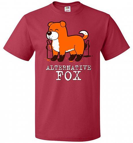 Alternative Fox Unisex T-Shirt Pop Culture Graphic Tee (2XL/True Red) Humor Funny Ner