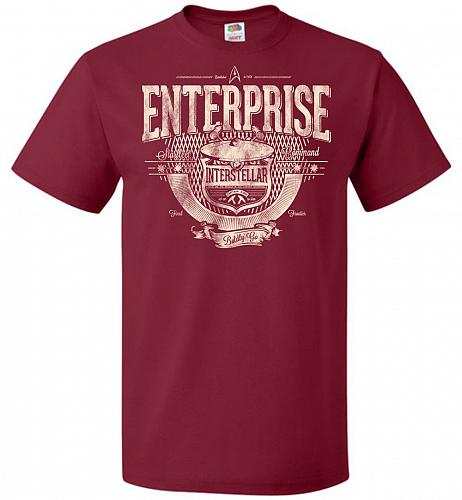 Enterprise Unisex T-Shirt Pop Culture Graphic Tee (3XL/Cardinal) Humor Funny Nerdy Ge