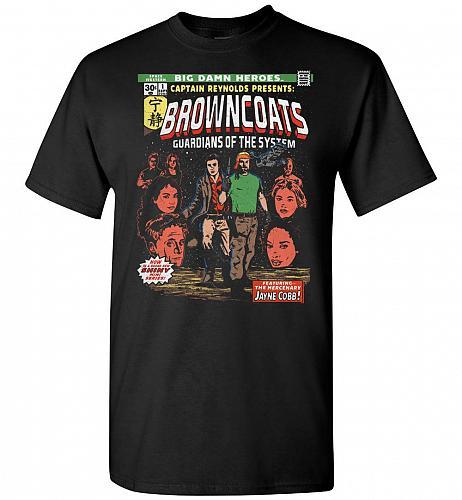 Big Damn Heroes Unisex T-Shirt Pop Culture Graphic Tee (S/Black) Humor Funny Nerdy Ge