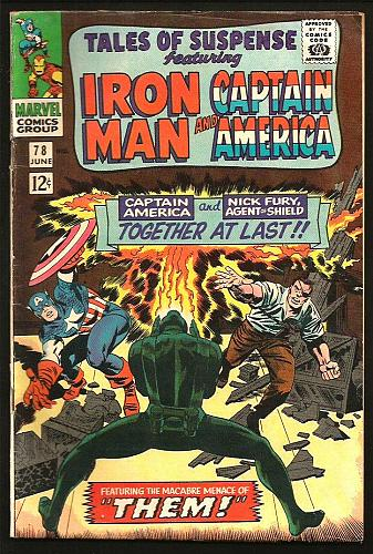 Tales of Suspense 78 Gene Colan Iron Man Capt. America 1966 SLee Jack Kirby THEM
