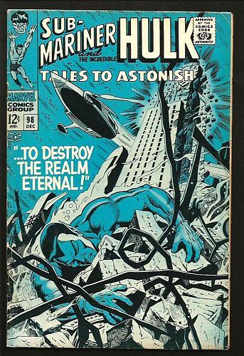 Tales To Astonish #98 Hulk Sub-Mariner Marvel Comics 1967 SILVER AGE Thomas
