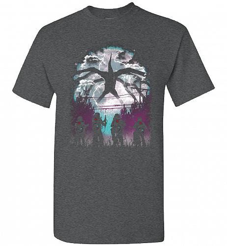 There's Something Strange Unisex T-Shirt Pop Culture Graphic Tee (2XL/Dark Heather) H