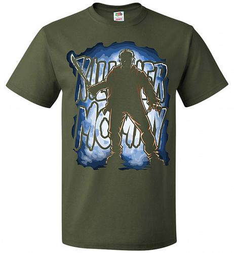 Jason Voorhees Killer Mommy Adult Unisex T-Shirt Pop Culture Graphic Tee (5XL/Militar