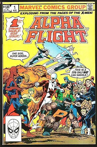 Alpha Flight #1 John Byrne (X-Men) Double-sized Marvel Comics 1983 FF Avengers
