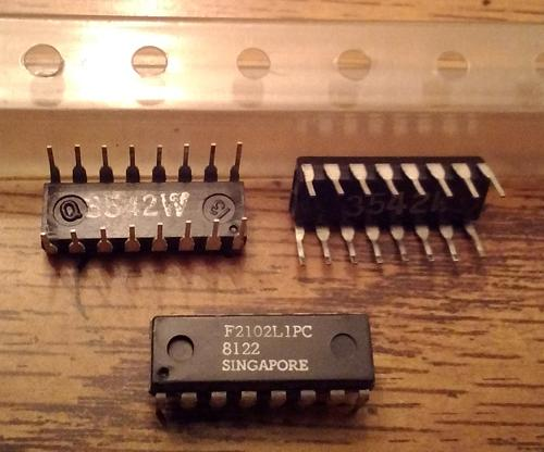 Lot of 3: Fairchild 2102L1PC