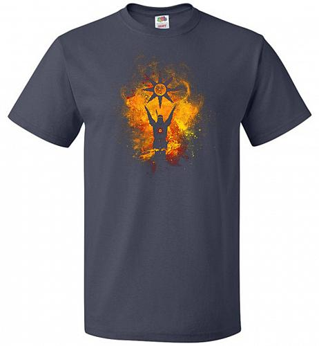 Praise The Sun Art Unisex T-Shirt Pop Culture Graphic Tee (5XL/J Navy) Humor Funny Ne