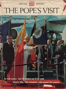 THE POPE'S VISIT :: 1965 HB w/ DJ :: FREE Shipping