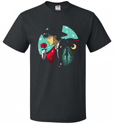 Knight Of The Moonlight Unisex T-Shirt Pop Culture Graphic Tee (2XL/Black) Humor Funn
