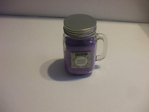 Watson's Lavender Scented Solid Candle In Mason Jar 30 Hours Burning Time 10 Oz