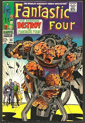 Fantastic Four #68 Marvel Comics Jack Kirby Stan Lee NICE 1st print& series '60s