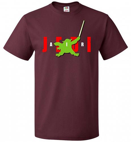 Air Jedi Unisex T-Shirt Pop Culture Graphic Tee (5XL/Maroon) Humor Funny Nerdy Geeky