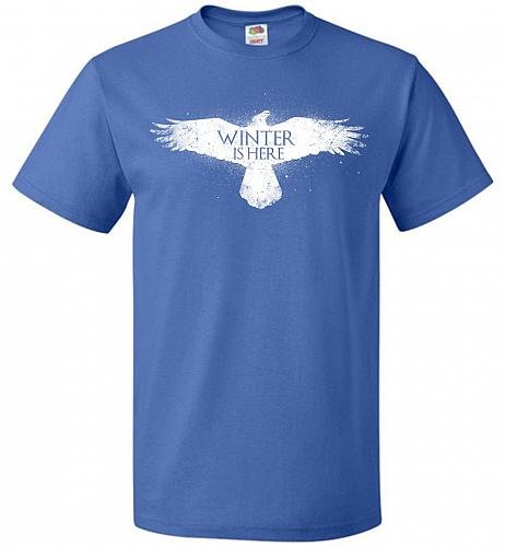 Winter Is Here Unisex T-Shirt Pop Culture Graphic Tee (4XL/Royal) Humor Funny Nerdy G