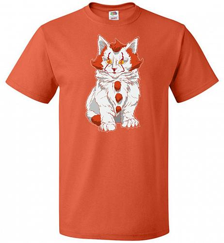 kITten Unisex T-Shirt Pop Culture Graphic Tee (M/Burnt Orange) Humor Funny Nerdy Geek