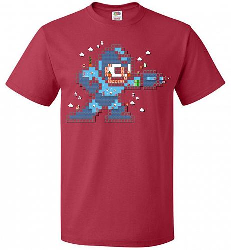 Mega Maker Unisex T-Shirt Pop Culture Graphic Tee (5XL/True Red) Humor Funny Nerdy Ge