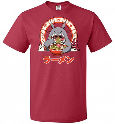 The Neighbor's Ramen Unisex T-Shirt Pop Culture Graphic Tee (M/True Red) Humor Funny