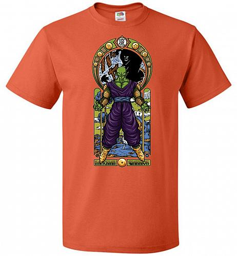 Namekian Warrior Unisex T-Shirt Pop Culture Graphic Tee (XL/Burnt Orange) Humor Funny