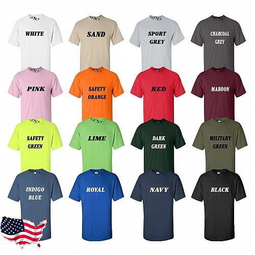 CUSTOM Personalized T-shirt Your Text Printed Here Tee (16 Colors SM-6X)