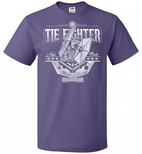 New Order Tie Fighter Unisex T-Shirt Pop Culture Graphic Tee (6XL/Purple) Humor Funny