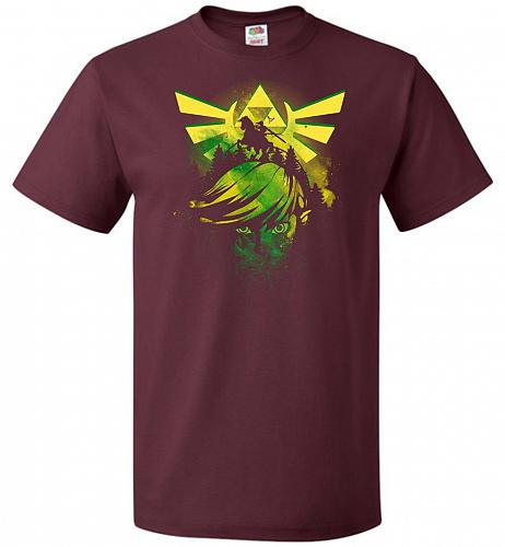 Hero of Time Unisex T-Shirt Pop Culture Graphic Tee (M/Maroon) Humor Funny Nerdy Geek