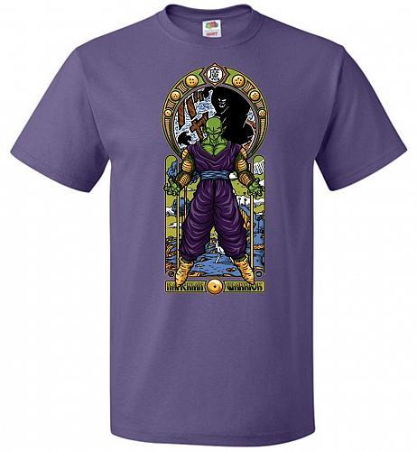 Namekian Warrior Unisex T-Shirt Pop Culture Graphic Tee (L/Purple) Humor Funny Nerdy