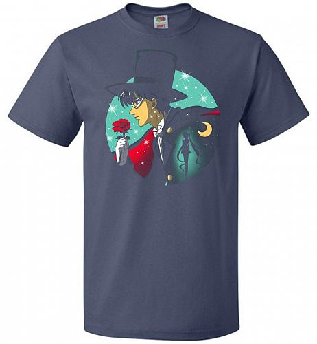 Knight Of The Moonlight Unisex T-Shirt Pop Culture Graphic Tee (L/Denim) Humor Funny