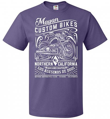 Mayan Custom Bikes Sons Of Anarchy Adult Unisex T-Shirt Pop Culture Graphic Tee (S/Pu