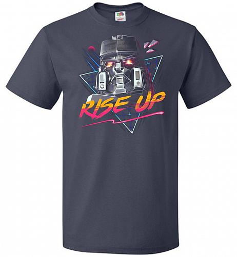 Rise Up Unisex T-Shirt Pop Culture Graphic Tee (XL/J Navy) Humor Funny Nerdy Geeky Sh