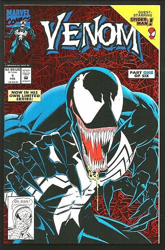 VENOM #1 Lethal Protector 1993 Marvel Comics BAGLEY MICHELINIE Milgrom VF+/NM-