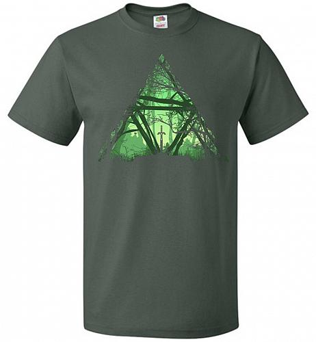 Treeforce Unisex T-Shirt Pop Culture Graphic Tee (L/Forest Green) Humor Funny Nerdy G