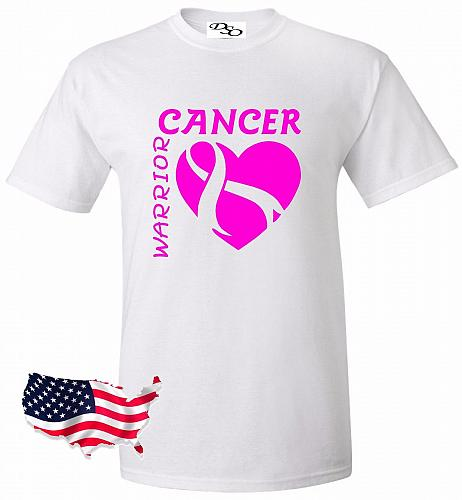 Cancer Warrior T-shirt Survivor Support Strong Breast Cancer Awareness