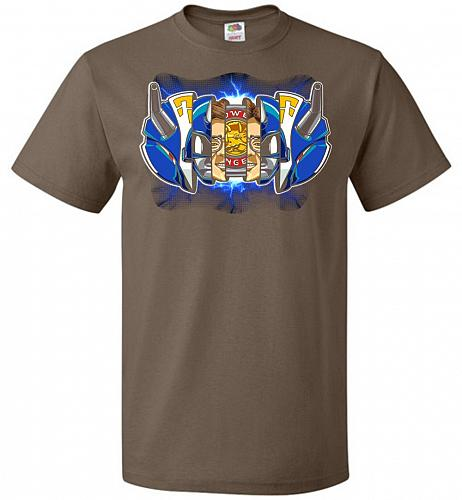 Blue Ranger Unisex T-Shirt Pop Culture Graphic Tee (L/Chocolate) Humor Funny Nerdy Ge