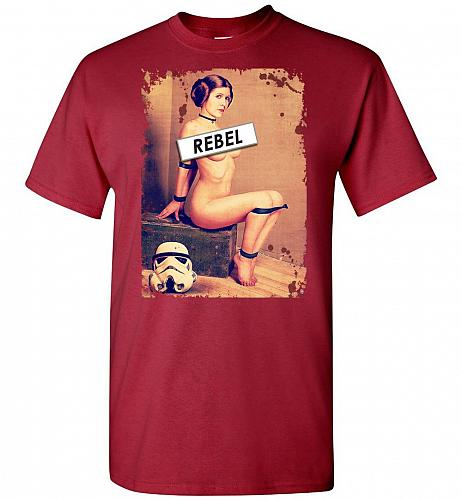 Princess Leia Rebel Unisex T-Shirt Pop Culture Graphic Tee (S/Cardinal) Humor Funny N