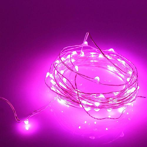 :10846U - 20 LED Copper Wire Pink Fairy Lights