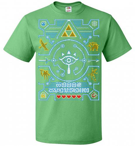 Legend Of Zelda Ugly Sweater Design Adult Unisex T-Shirt Pop Culture Graphic Tee (6XL