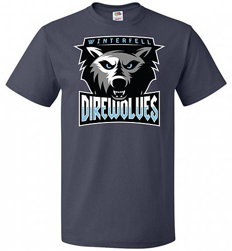 Game of Thrones Inspired Winterfell Direwolves Sports Parody Adult Unisex T-Shirt Pop