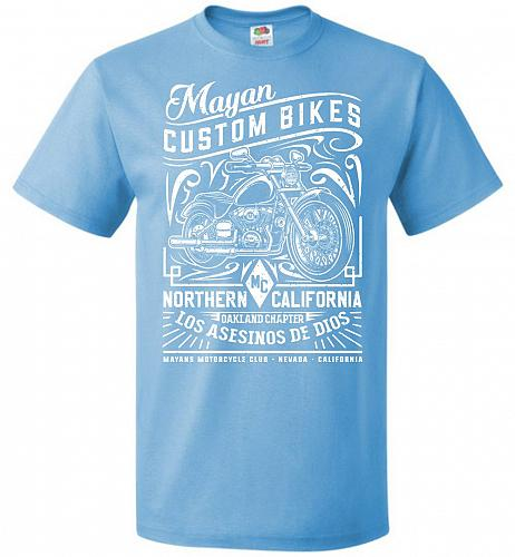 Mayan Custom Bikes Sons Of Anarchy Adult Unisex T-Shirt Pop Culture Graphic Tee (M/Aq
