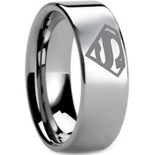 coi Jewelry Tungsten Carbide SuperMan Wedding Band Ring