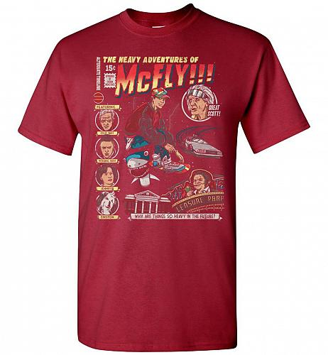 Heavy Adventures Of McFly! Unisex T-Shirt Pop Culture Graphic Tee (2XL/Cardinal) Humo
