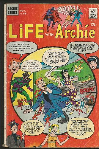 LIFE WITH ARCHIE #55 G+/VG- Archie Series Comics The Man From 1966 RIVERDALE