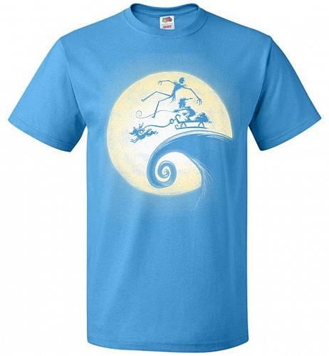Nightmare Before Grinchmas Unisex T-Shirt Pop Culture Graphic Tee (S/Pacific Blue) Hu