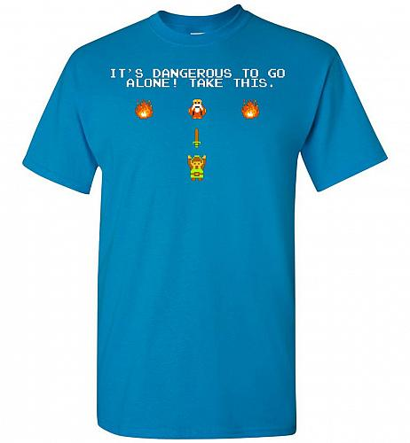 It's Dangerous To Go Alone! Classic Zelda Unisex T-Shirt Pop Culture Graphic Tee (M/S